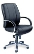 Mayline Optima Mid-Back Chair OPMBLK (Black Leather) ES4370