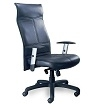 Mayline Silhouette High-Back Chair SSBLK (Black Leather) ES4373