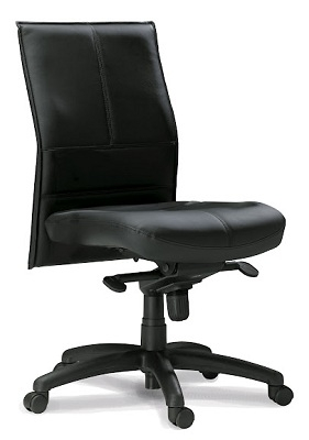 Mayline Silhouette Mid-Back Chair SSMBLK