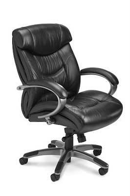 Mayline Ultimo Leather Series 200 Mid-Back Chair UL230MBLK