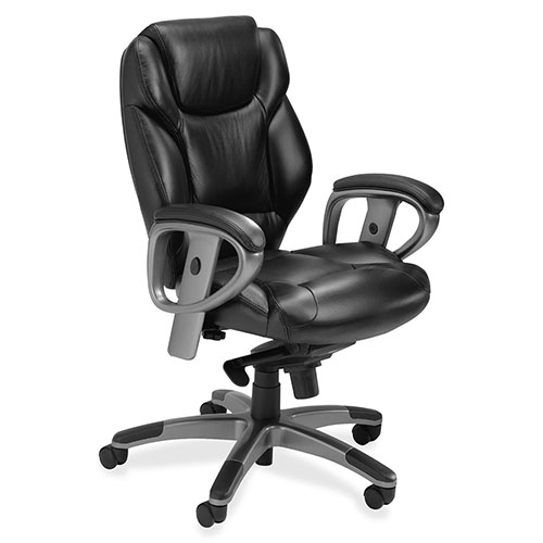 Mayline Ultimo Leather Series 300 Mid-Back Chair with Synchro-Tilt UL330M ES4391