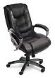 Mayline Ultimo Leather Series 500 EZ-Assemble Mid-Back Chair UL530MEZBLK (Black Leather, Slate Frame) ES4393