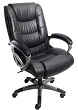 Mayline Ultimo Leather Series 500 EZ-Assemble High-Back Chair UL550HEZBLK (Black Leather, Slate Frame) ES4394