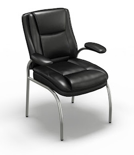 Mayline Ultimo Leather Series 600 Eco-Leather Guest Chair UL610GBLK