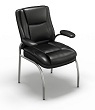 Mayline Ultimo Leather Series 600 Eco-Leather Guest Chair UL610GBLK (Black Leather) ES4395
