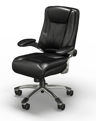 Mayline Ultimo Leather Series 600 Eco-Leather Mid-Back Chair UL630MBLK
