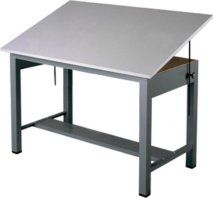 Mayline Economy Ranger Steel Four-Post Drafting Table