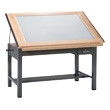 "Mayline Ranger Steel Four-Post Light Table, 60"" W x 37.5"" D 7736BLT (3 Colors Available) ES4458"