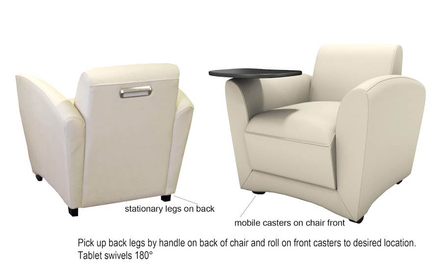 Mayline Santa Cruz Series Mobile Lounge Chair VCCM ES5231