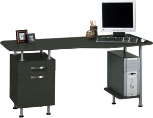 Mayline Eastwinds Espresso PC Desk with File 905
