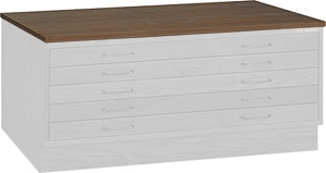 "Mayline Wood Plan File Cap for 36"" x 48"" Document Drawer Unit 7719U"