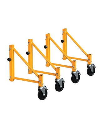 MetalTech I-CISO4 - Jobsite Series 6 Foot Baker Scaffold Outriggers - Set of 14 Inch Outriggers with Casters ES7091