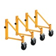 MetalTech I-CISO4 - Jobsite Series Set of 14 Inch Outriggers with Casters for Baker Scaffold ES7091