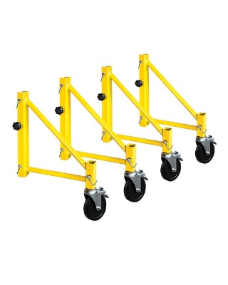 MetalTech I-CISO4PY - Jobsite Series Set of 14 Inch Outriggers with Casters for Perry Style Scaffold ES7096