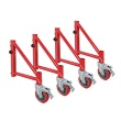 MetalTech I-BMSO4 - Buildman Series Set of 6 Inch Outriggers with Casters ES7100