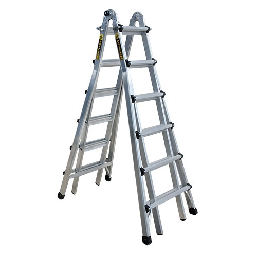 MetalTech E-MTL7200AL - 21 ft Telescoping Multi-Position Ladder