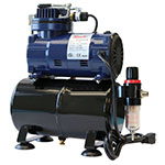 Paasche AirBrush Oil-less Piston Compressor with Tank and Regulator - D3000R ET10355