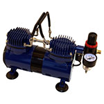 Paasche AirBrush Dual Head 1/4 HP Oil-less Compressor with Auto Shutoff - DA400R ET10357