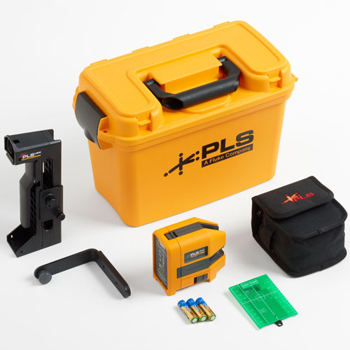 Pacific Laser Systems Green Cross Line Laser Level Kit - PLS-180G-KIT