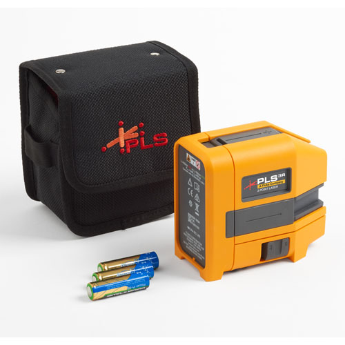 Pacific Laser Systems Red Three-Point Laser Level - PLS-3R-Z