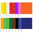"Presco 2321 - Plain Color 2x3 Flag and 21"" Wire Staff Marking Flags (1000 Count) (16 Colors Available) ES7382"