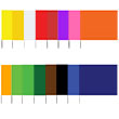 "Presco 4521 - Plain Color 4x5 Flag and 21"" Wire Staff Marking Flags (1000 Count) (16 Colors Available) ES7388"
