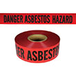 "Presco Standard Red 2 mil DANGER ASBESTOS HAZARD Barricade Tape 3"" x 1000' - B3102R4180 (Case of 8 Rolls) ES9622"