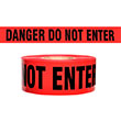"Presco Standard Red 2 mil DANGER DO NOT ENTER Barricade Tape 3"" x 1000' - B3102R10 (Case of 8 Rolls) ES9623"