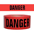 "Presco Standard Red 2 mil DANGER Barricade Tape 3"" x 1000' - B3102R21 (Case of 8 Rolls) ES9625"