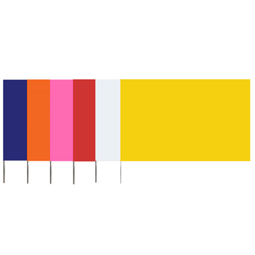 "Presco 5821 - Plain Color 5x8 Flag and 36"" Wire Staff Marking Flags (1000 Count) (6 Colors Available)"