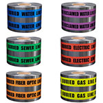 "Presco 6"" Detectable Underground Warning Tape - 4 Rolls (6 Models Available) ES9802"