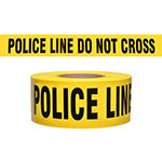 "Presco Standard Yellow 2.5 mil POLICE LINE DO NOT CROSS Barricade Tape 3"" x 1000' - B31022Y11 (Case of 8 Rolls) ES9811"