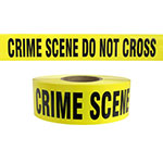 "Presco Standard Yellow 2.5 mil CRIME SCENE DO NOT CROSS Barricade Tape 3"" x 1000' - B31022Y49 (Case of 8 Rolls) ES9815"