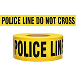"Presco Standard Yellow 3 mil POLICE LINE DO NOT CROSS Barricade Tape 3"" x 1000' - B3103Y11 (Case of 8 Rolls) ES9821"