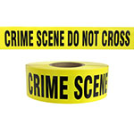 "Presco Standard Yellow 3 mil CRIME SCENE DO NOT CROSS Barricade Tape 3"" x 1000' - B3103Y49 (Case of 8 Rolls) ES9831"