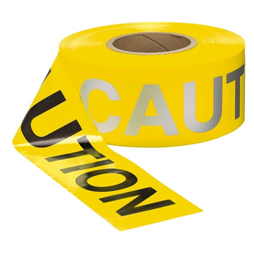 Presco 2 mil Day/Night CAUTION Barricade Tape - RB3102Y16 (Case of 8 Rolls)