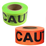 "Presco 3 mil High Viz PVC Barricade Tape 3"" x 500' - Case of 8 Rolls (2 Colors Available) ES9843"