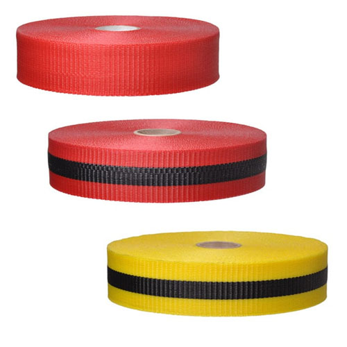 "Presco Woven Barricade Tape 2"" x 150' - Case of 48 Rolls (3 Colors Available)"