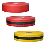 "Presco Woven Barricade Tape 2"" x 150' - Case of 48 Rolls (3 Colors Available) ES9848"