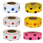 Presco Patterned Polka Dot Roll Flagging - 12 Rolls (6 Colors Available) ET10086