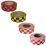 Presco Patterned Checkered Roll Flagging - 12 Rolls (4 Colors Available) ET10087