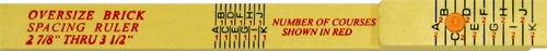 Rhino Rulers Folding Oversize Brick Spacing Ruler 55115