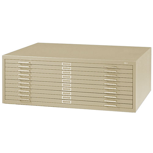 "Safco 10 Drawer Steel Flat File for 30"" x 42"" Documents 4986"