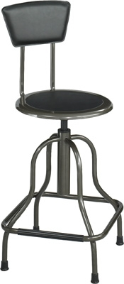 Safco Diesel High Base Stool with Back 6664
