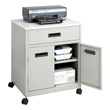 Safco Steel Machine Stand with Drawer 1870GR (Gray) ES2418
