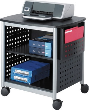 Safco Scoot Desk-Side Printer Stand 1856BL