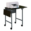 Safco Machine Stand with Drop Leaves 1876BL (Black) ES2424