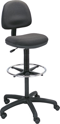 Safco Precision Extended-Height Chair with Footring 3401BL ES3109