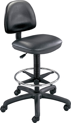 Safco Precision Vinyl Extended-Height Chair with Footring 3406BL