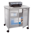 Safco Impromptu Deluxe Machine Stand with Doors 1859GR (Gray) ES3268